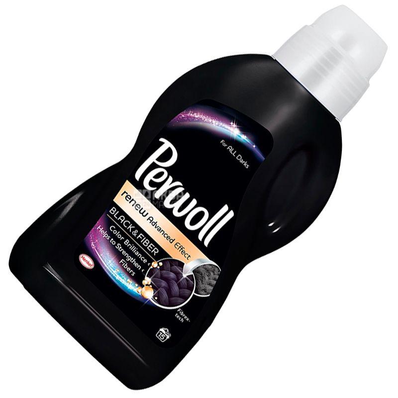 Perwoll, 0.9 L, Dark Textile Washing Agent, Renew Advanced Effect, Black and Fiber
