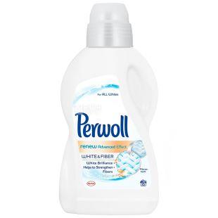 Perwoll, 0,9 л, Засіб для прання білих тканин, Renew Advanced Effect, White and Fiber