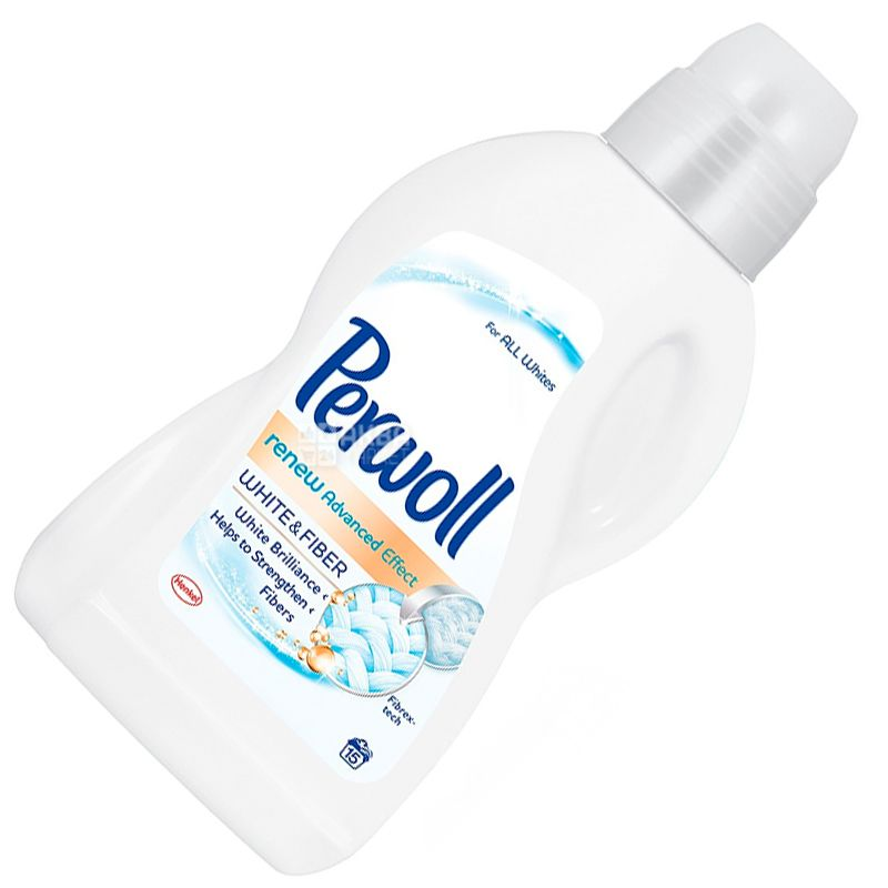Perwoll, 0,9 л, Средство для стирки белых тканей, Renew Advanced Effect, White and Fiber