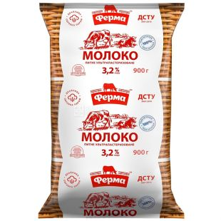 Farm, 900 g, 3.2%, Milk, Ultrapasteurized, m / s