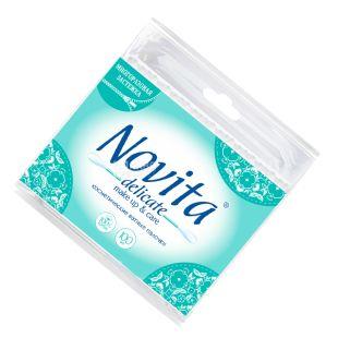 Novita Delicate, 100 шт., Ватные палочки гигиенические, п/э пакет