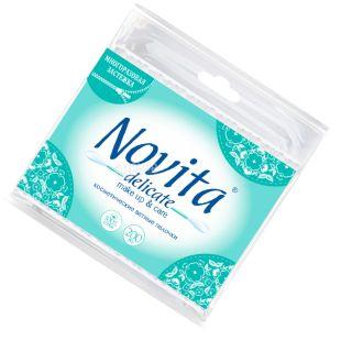 Novita Delicate, 200 шт., Ватные палочки гигиенические, п/э пакет