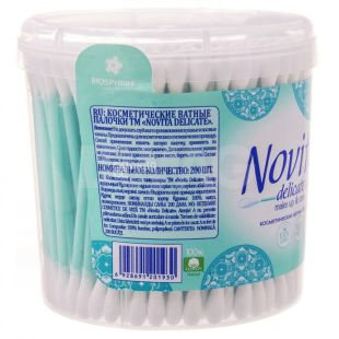 Novita Delicate, 200 pcs., Cotton buds hygienic, In a jar