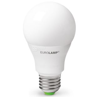 EUROLAMP, 10 Вт, E27, Лампочка Світлодіодна, ЕКО, 6500К (нейтральне світло), A60, Матова