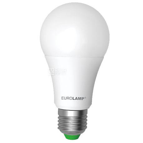 EUROLAMP, 12 Вт, E27, Лампочка Світлодіодна, ЕКО, 4000К (нейтральне світло), A60, Матова