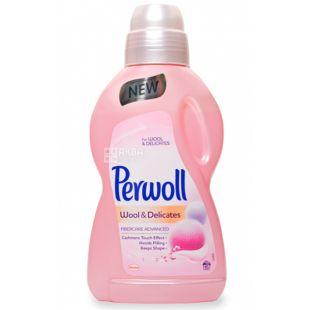 Perwoll, 0,9 л, Средство для стирки шерсти и шелка, Renew Advanced Effect, Silk and Wool