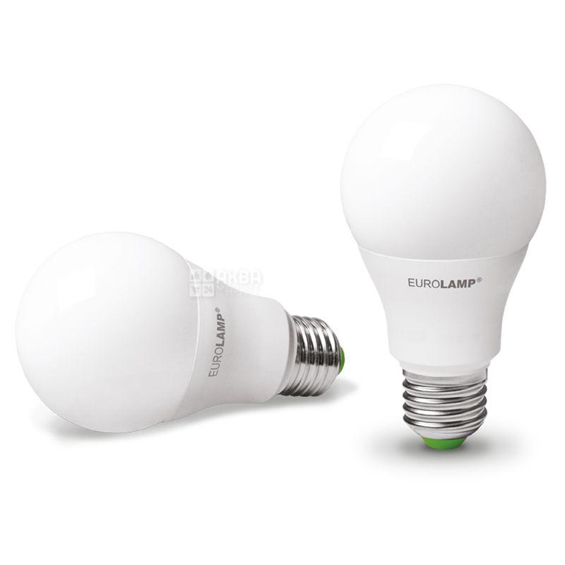 EUROLAMP, лампочки 2 шт., 12 Вт, E27, Лампочка Светодиодная, ЭКО, 4000К (холодный белый свет), A60