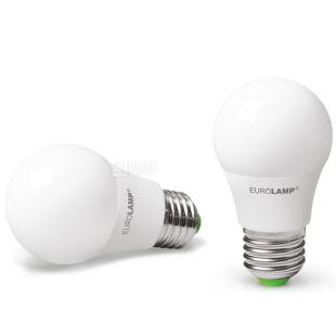 EUROLAMP, 1+1 шт., 7 Вт, E27, Лампочка Светодиодная, ЭКО, 4000К (холодный белый свет), A50
