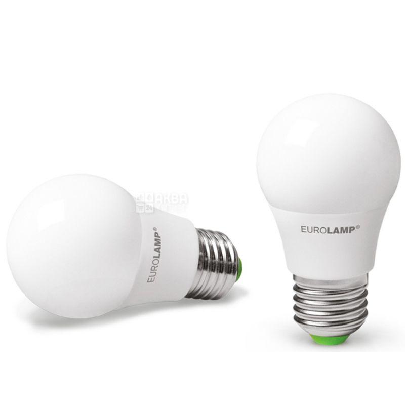 EUROLAMP, лампочки 2 шт., 7 Вт, E27, Лампочка Светодиодная, ЭКО, 4000К (холодный белый свет), A50