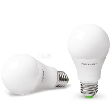 EUROLAMP, 1+1 шт., 10 Вт, E27, Лампочка Світлодіодна, ЕКО, 4000К (холодне біле світло), A60