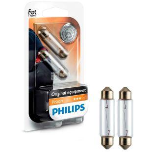 Philips, 1 pc., LED lamp, Signal, Festoon Vision, T10.5x43