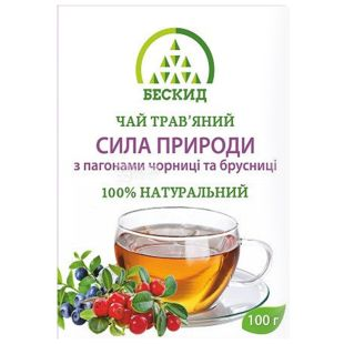 Beskid, 100 g, Herbal tea, The power of nature, With blueberries and lingonberries