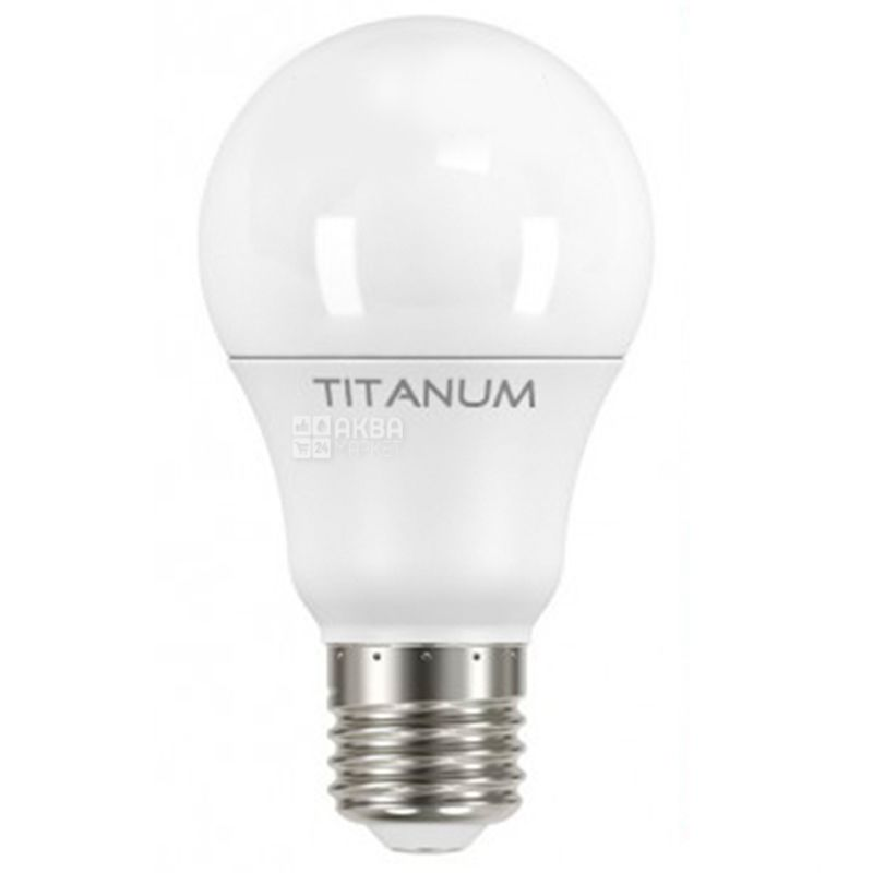 TITANUM, 10 Вт, E27, Лампочка Світлодіодна, 4100К (нейтральне біле світло), A60