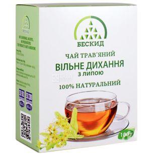 Бескид, Свободное дыхание, 100 г, Чай травяной, с липой