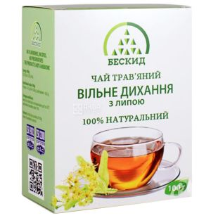 Beskid, 100 g, Herbal tea, Free breath, With linden