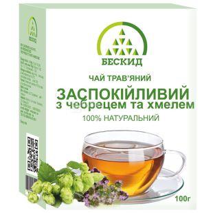 Бескид, Заспокійливий, 100 г, Чай трав'яний, з чебрецем і хмелем