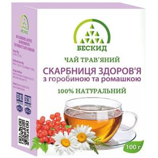 Beskid, 100 g, Herbal tea, Health treasury, With rowan and chamomile
