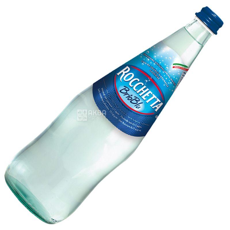 Rocchetta Brio Blu, 1 л, Рочетта Бріо Блю, Вода мінеральна газована, скло