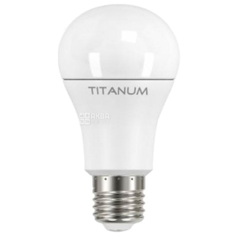 Titanum, 1 шт., 12 Вт, E27, Лампочка Світлодіодна, 4100K (нейтральне біле світло), A60