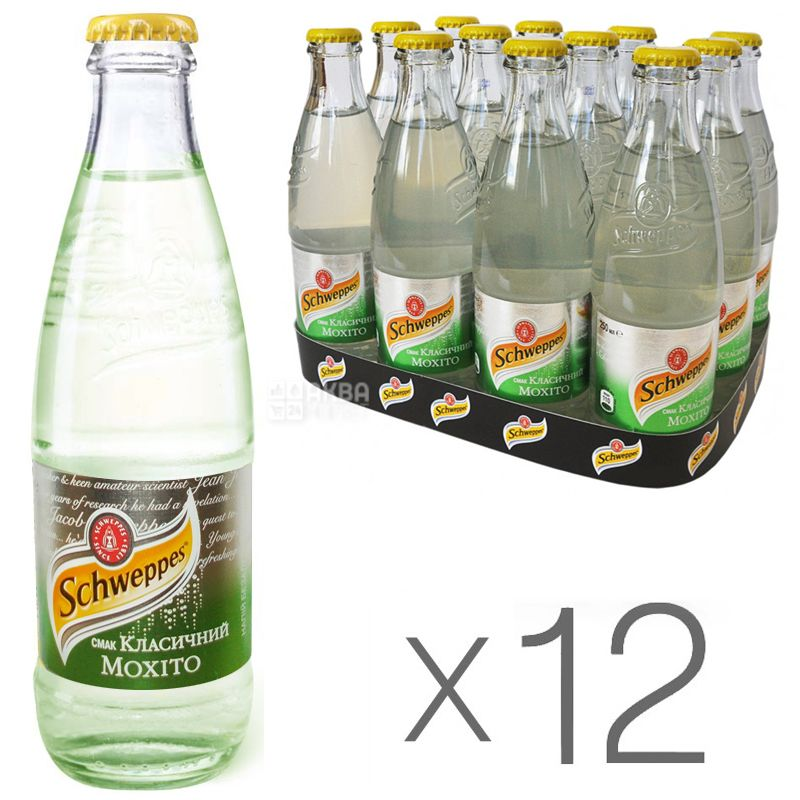 Schweppes, Packing 12 pcs. 0.25 l each, Mojito, Glass