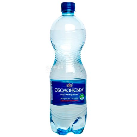 Оболонь, 1,5 л, Упаковка 6 шт., Вода минеральная сильногазированная, ПЭТ