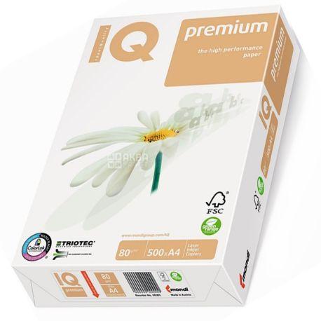 IQ Premium,, 500 л, Папір А4,Клас В, 80г/м2