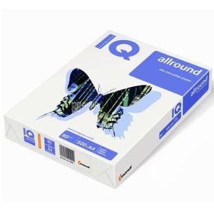 IQ, 500 л, Папір А4, Allround, Клас С, 80 г/м2