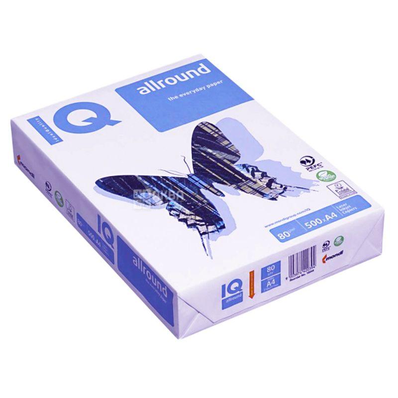 IQ Allround A4 Paper, 500 liters, Class C, 80g / m2