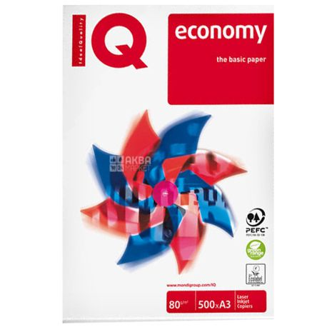 IQ, 500 л, Бумага А3, Economy, Класс С+