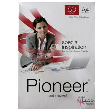 PIONEER, 500 л, Бумага А4, Класс А, 80г/м2