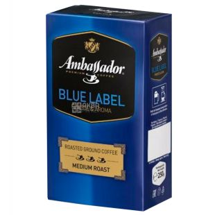 Ambassador Blue Label, 250 г, Кофе молотый Амбассадор Блю Лэйбл