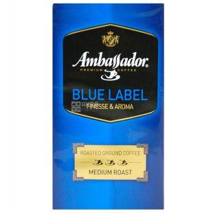 Ambassador, 250 г, Кофе молотый, Blue Label, м/у