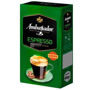 Ambassador Espresso, 450 г, Кава мелена Амбассадор Еспрессо