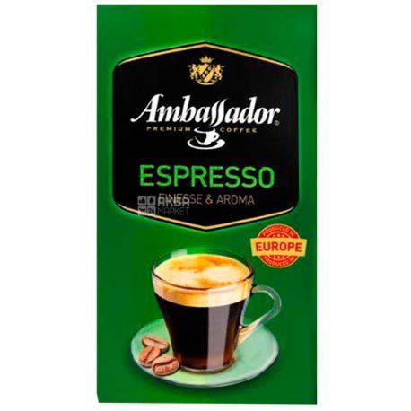 Ambassador Espresso, 450 г, Кофе молотый Амбассадор Эспрессо