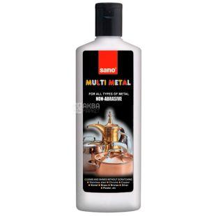Sano, Неабразивний очищувач для усіх видів металевих виробів, Multi Metal, 330 мл