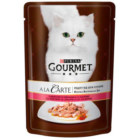Gourmet, 85 г, Корм для котів, A La Carte, З фореллю та овочами, м/у
