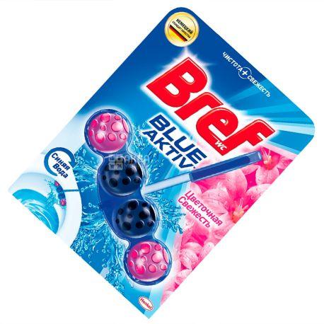 Bref, 1 pc., Blocks for the toilet, Active Force, Formula 4 in 1, Flower freshness, PET