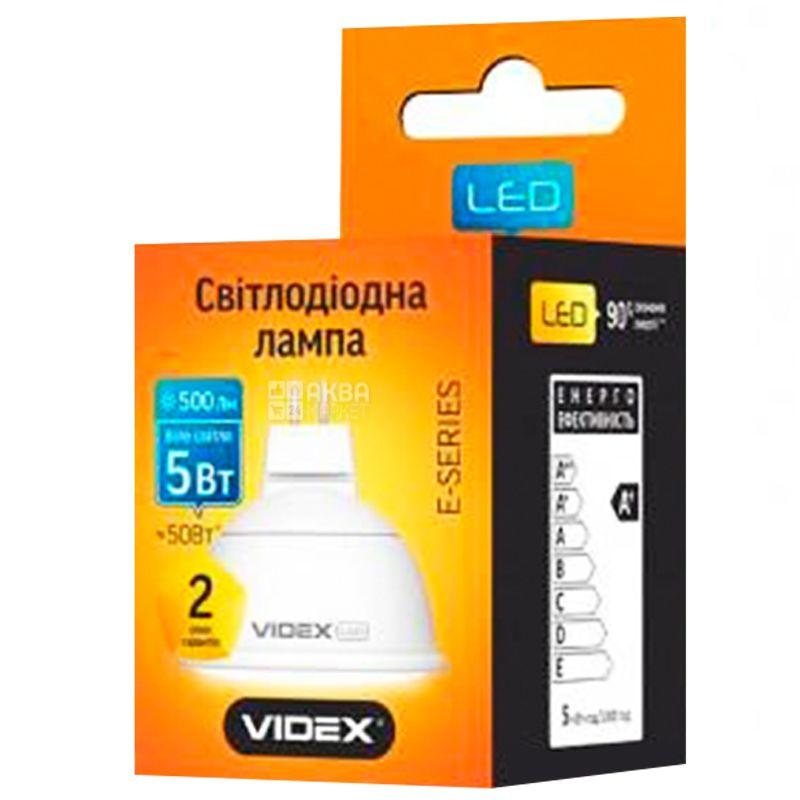 Videx, 1 шт., 5 Вт, GU5.3, Лампа Світлодіодна, 4100K (нейтральне біле світло), MR16e, 220 V