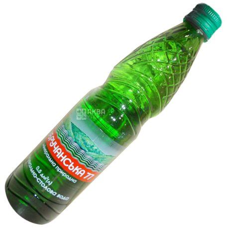 Збручанская 77, Вода минеральная газированная лечебно-столовая, 0,5 л, Стекло, стекло