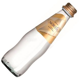 Norda, 0.25 L, Mineral water, Carbonated, Glass, glass
