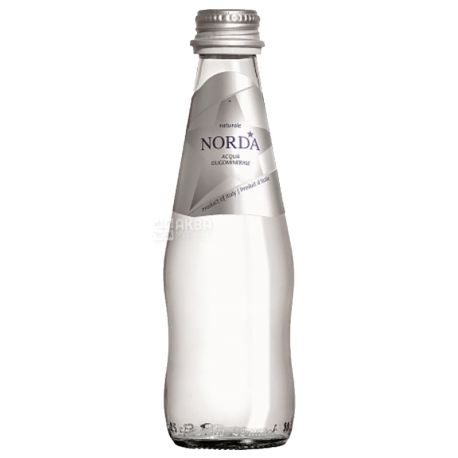 Norda, 0,25 л, Норду, Вода мінеральна негазована, скло