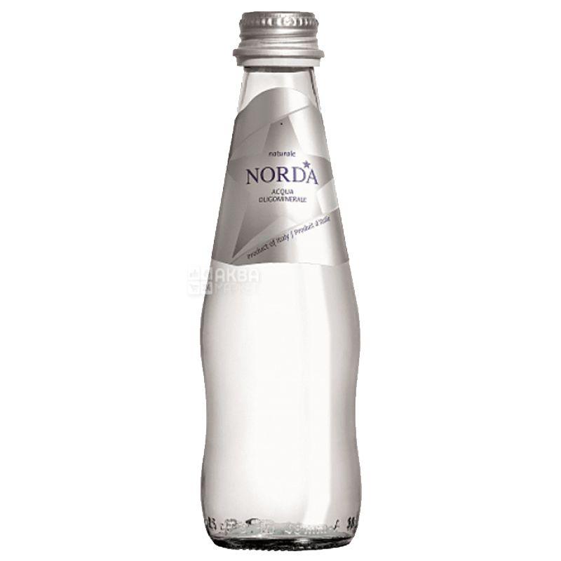 Norda, 0,25 л, Норда, Вода минеральная негазированная, стекло