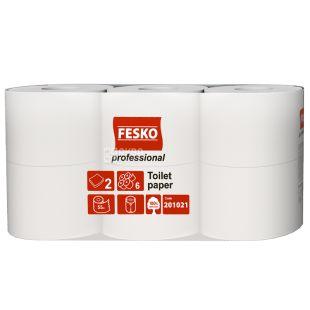 Fesko Professional, 6 рул., Туалетний папір Феско Профешнл, 2-х шаровий