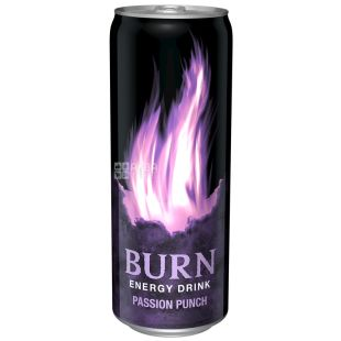 Burn Passion Punch, упаковка 6 шт. по 0,25 л, Напиток энергетический Бёрн Пэшн Панч