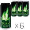 Burn Apple Kiwi, упаковка 6 шт. по 0,25 л, Напиток энергетический Берн Яблоко-Киви
