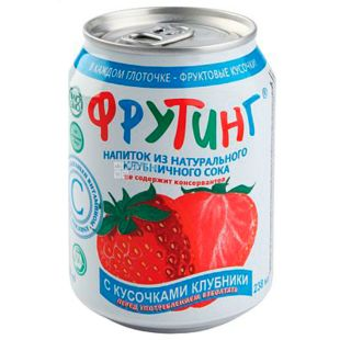 Fruiting Strawberry, 238 ml, Drink from natural strawberry juice, w / w