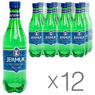 Jermuk, Packing 12 pcs. 0.5 l each, Mineral Water, Carbonated, PET, PAT