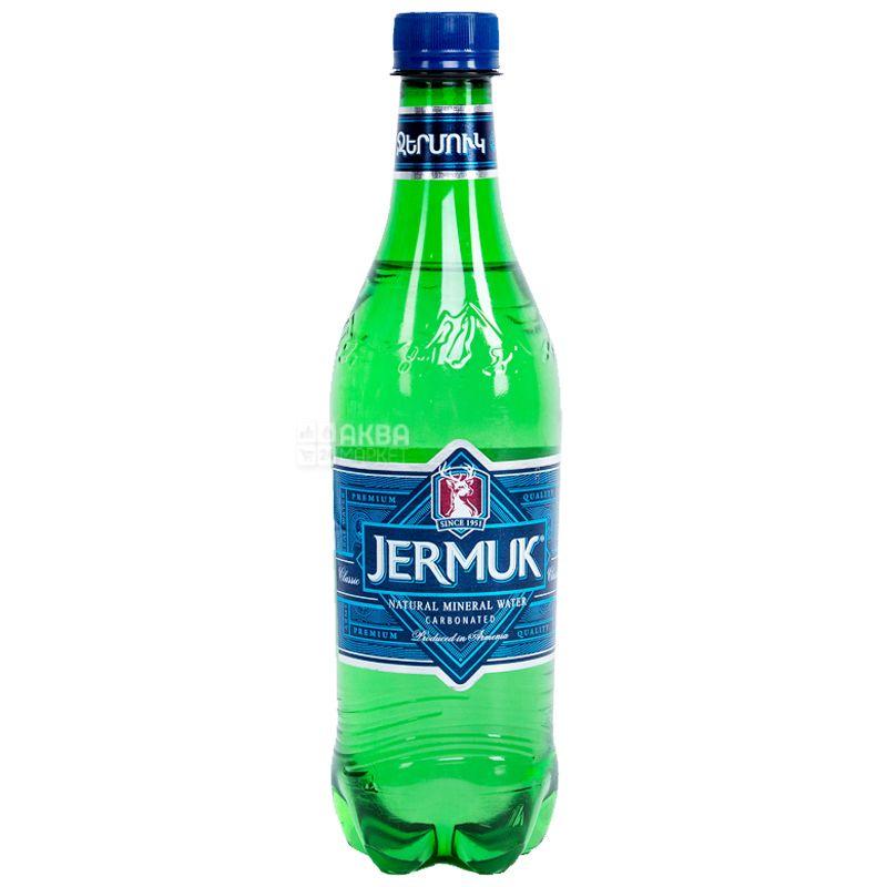 Джермук, 0,5 л, Упаковка 12 шт., Вода мінеральна газована, ПЕТ