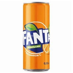 Fanta, Packing 12 pcs. on 0,33 l, Orange, can