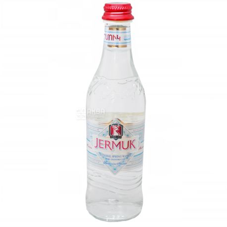 Джермук, 0,5 л, Упаковка 12 шт., Вода мінеральна негазована, скло